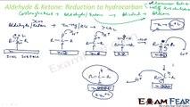 Chemistry Aldehydes Ketones part 16 (Reduction) CBSE class 12 XII