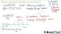 Chemistry Alcohol, Phenol & Ether part 5 (Ether IUPAC nomenclature) CBSE class 12 XII