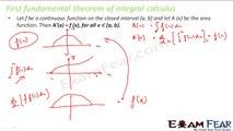 Maths Integrals part 38 (Fundamental theorem of integral calculus) CBSE class 12 Mathematics XII