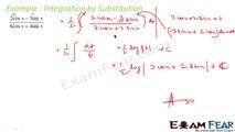 Maths Integrals part 12 (Integration by substitution: Formula) CBSE