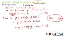 Maths Integrals part 7 (Indefinite integrals by inspection) CBSE class 12 Mathematics XII