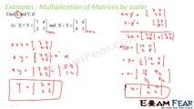 Maths Matrices part 13 (Example Scalar matrices) CBSE Mathematics XII