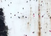 Drone Footage Shows Sledging in Dublin as Ireland Hit With Severe Snow