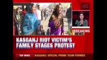 Kasganj Victim's Kin Hold Protest To Have Chandan Gupta Declared A Martyr