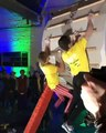 Parties for rock climbers are weird.