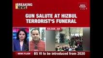 Terrorists Openly Gives Gun Salute At Hizbul Terrorist's Funeral In Kulgam, J&K