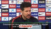 Simeone «Griezmann ne pense pas à l'intérêt de Barcelone» - Foot - ESP - Atlético