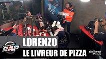 Un livreur de pizza s'arrête chanter à Skyrock #PlanèteRap