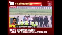 PM Modi Arrives  At The Airport To Welcome Japanese PM Shinzo Abe
