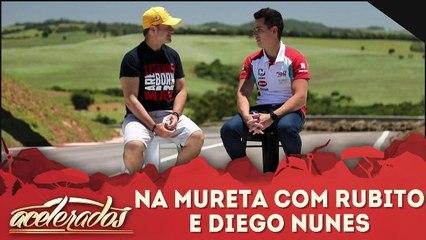 Na mureta com Rubito e Diego Nunes