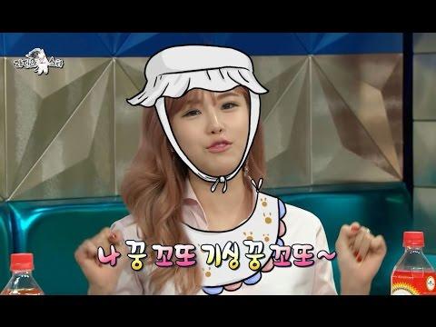 【TVPP】Hyosung(Secret) – Cute charming battle, 효성(시크릿) – 소유(씨스타)와 '기싱꿍꼬또' 애교 배틀 @The Radio Star