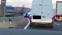 Violenta detención en plena autopista de Madrid: a porrazos con dos salvajes criminales