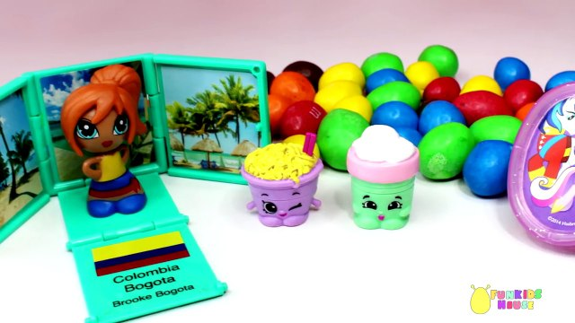 Play Doh Ice Cream Surprise Toys Opening Surprise Eggs, Shopkins Giftems Toy Surprises for Kids
