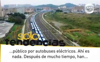 Mas de 16.350 autobuses electricos invaden China
