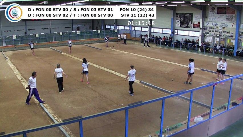 Quatrième tour, Club Elite Féminin, demi-finale retour, Fontaine contre Saint-Vulbas,, saison 2017-2018