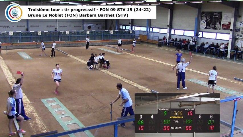 Troisième tour, tir progressif, Club Elite Féminin, demi-finale retour, Fontaine contre Saint-Vulbas,, saison 2017-2018