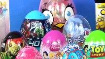 Dora Peppa Pig Curious George Barbie Disney 35 Surprise Eggs Unboxing for kids b