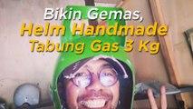 Bikin Gemas, Orang Ini Bikin Helm Ala Tabung Gas 3 Kg