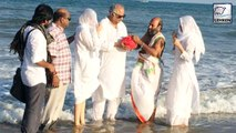 Jhanvi And Khushi Immerse Sridevis Ashes In Rameswaram With Boney Kapoor