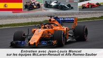 Entretien avec Jean-Louis Moncet sur les équipes McLaren-Renault et Alfa Romeo-Sauber