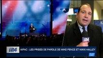 Aipac: les prises de paroles de Mike Pence et de Nikki Halley