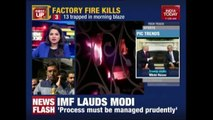 13 People Charred To Death In Garment Factory Fire In Sahibabad