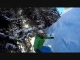 Une journée au ski – Snowboard ski freeride – Entre forêts soleil et poudreuse – 1ère descente ? Vlog