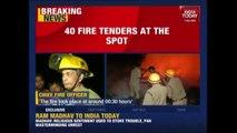 Massive Fire At Plastic Godown In Mundka, Delhi
