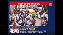 Residents Took To Streets To Protest Against Bengaluru Demolition Drive