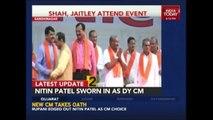 Vijay Rupani Sworn In As Chief Minister And Nitin Patel As Deputy CM In Gujarat
