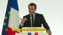 """Refondation pénale : """"Plusieurs délits, dont l'usage de stupéfiants"""" vont être forfaitisés. """"Nous allons substituer à ce qui sont aujourd'hui des peines de prison, des amendes ou d'autres mesures pénales"""", annonce Emmanuel Macron."""