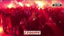 Chaude ambiance avant le match face au Real Madrid - Foot - C1 - PSG