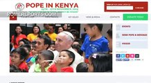 Official websites and social media accounts for  the Pope's trip to Africa