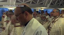 """Pope Francis denounces """"complicit silence"""" before the persecution of Christians"""