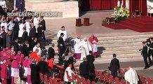 Pope Emeritus Benedict XVI arrives at the Beatification of Pope Paul VI