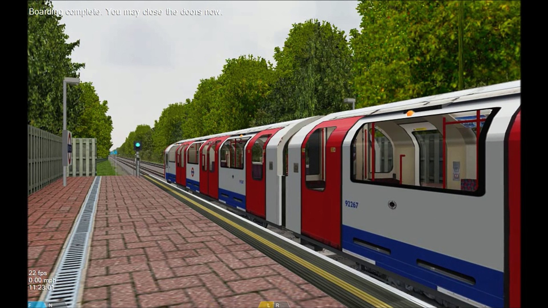 OpenBVE HD: London Underground Central Line Preview 1992TS ATO Mode Rail  Fanning