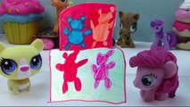 Playdoh Rainbow Gummy Bear Cake My Little Pony Pinkie Pie Fashems Littlest Pet Shop Fun