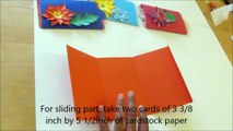 #DIY Art and #craft: #howto make Double slider card / Magic card/ #mothersday card