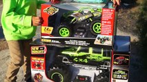 Monster Trucks Toy Unboxing - Kids Playing with RC Toys at Bike Jump Park