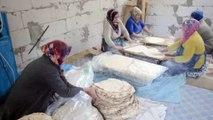 Darendeli kadınlardan Mehmetçiğe tandır ekmeği
