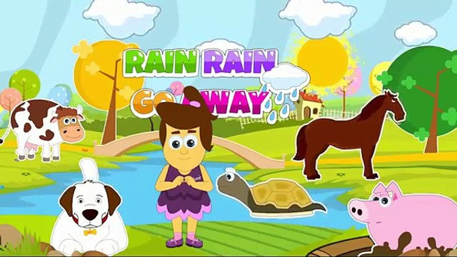 Rain Rain Go Away | Nursery Rhyme With Lyrics | Cartoon Animation Rhymes & Songs for Children