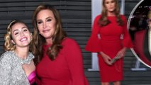 Girl about town! Caitlyn Jenner sidles up to Elton John and Miley Cyrus as she hits TWO Oscar parties