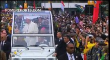 Millions come out to greet Pope, as WYD comes to a close. Pope takes break and drinks Maté