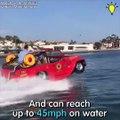 Cette voiture peut avancer sur l'eau... Dingue