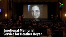 Emotional Memorial Service for Heather Heyer