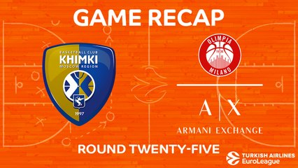 EuroLeague 2017-18 Highlights Regular Season Round 25 video: Khimki 77-86 AX Milan