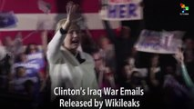 Clinton's Iraq War Emails Released by WikiLeaks