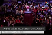 Bernie Sanders Vows to Fight for Every Vote