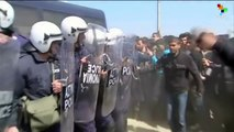 Police Clash with Stranded Refugees at Greek Border