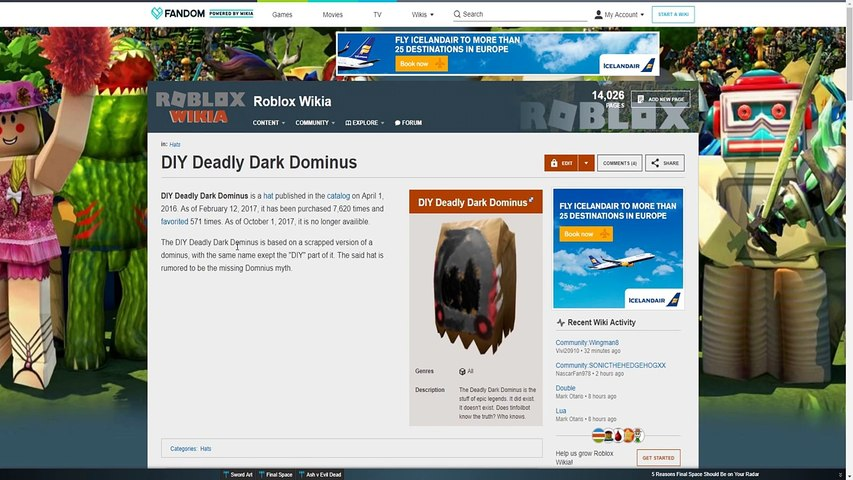 The Lost Dominus Of Roblox Roblox Creepypasta Dailymotion Video